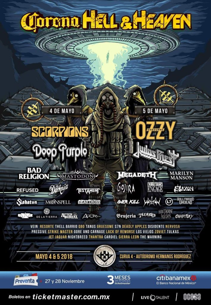 Corona Hell and Heaven 2018 Cartel completo