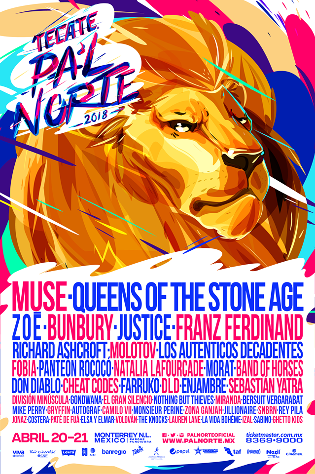 Tecate Pal Norte 2018 line up