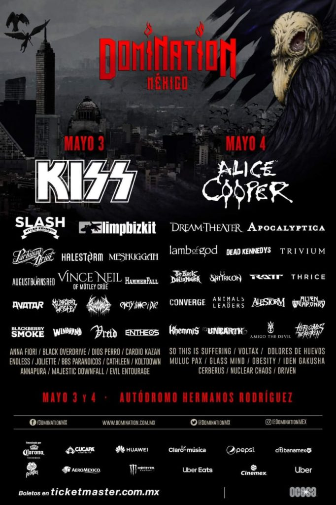 Domination México 2019 cartel