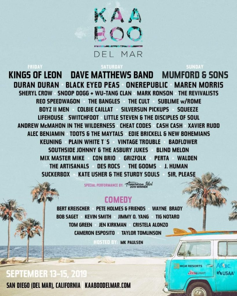KAABOO Del Mar 2019 line up